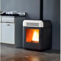 Estufa de pellet THEMA diseño minimalista