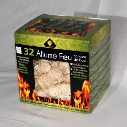 Lana de madera encendedora 100% Natural (32uts)