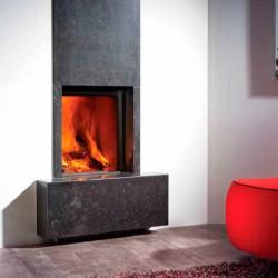 Llar de foc de llenya amb guillotina Heat Pure 45